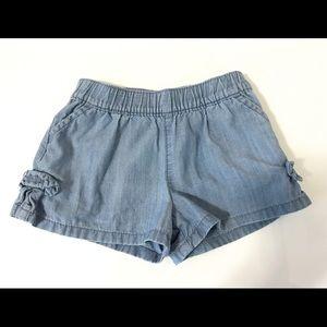 Carters Baby Girl Denim Bow Shorts